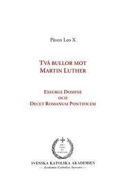 Två bullor mot Martin Luther