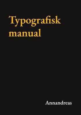 Typografisk manual