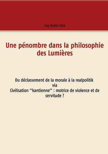 Une pénombre dans la philosophie des Lumières