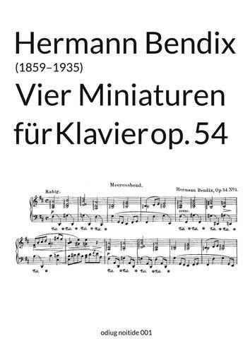 Vier Miniaturen op. 54