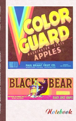 Vintage Label Art Notebook: Color Guard! (Notizbuch)