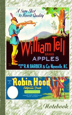 Vintage Label Art Notebook: Wilhelm Tell! (Notizbuch)
