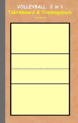 Volleyball 2 in 1 Taktikboard und Trainingsbuch