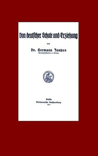 Von deutscher Schule und Erziehung
