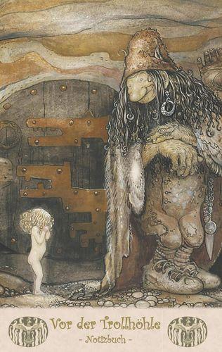 Vor der Trollhöhle  - Notizbuch (Trolle und Goblins)