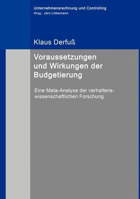 Voraussetzungen und Wirkungen der Budgetierung