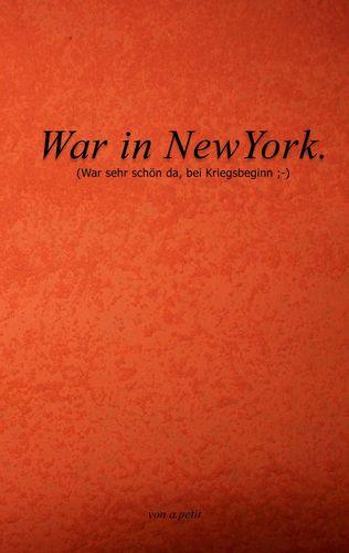 War in NewYork