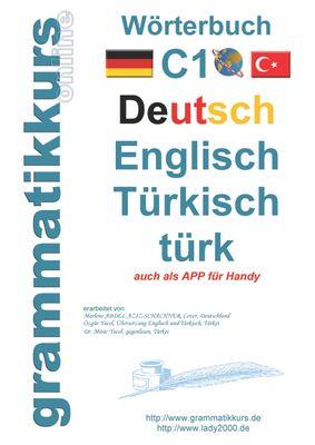 Wörterbuch C1 Deutsch-Englisch-Türkisch