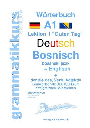 Wörterbuch Deutsch - Bosnisch - Englisch Niveau A1