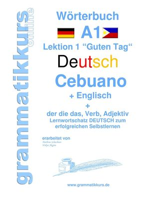 Wörterbuch Deutsch - Cebuano - Englisch Niveau A1