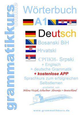 Wörterbuch Deutsch-Englisch-Kroatisch-Bosnisch-Serbisch Niveau A1