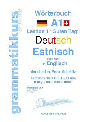 Wörterbuch Deutsch - Estnisch - Englisch  Niveau A1