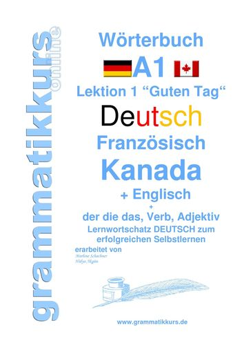 Wörterbuch Deutsch Französisch Kanada Englisch Niveau A1