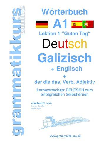 Wörterbuch Deutsch - Galizisch - Englisch Niveau A1