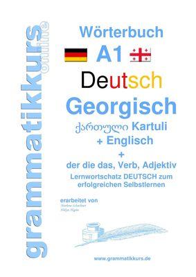 Wörterbuch Deutsch - Georgisch - Englisch Niveau A1