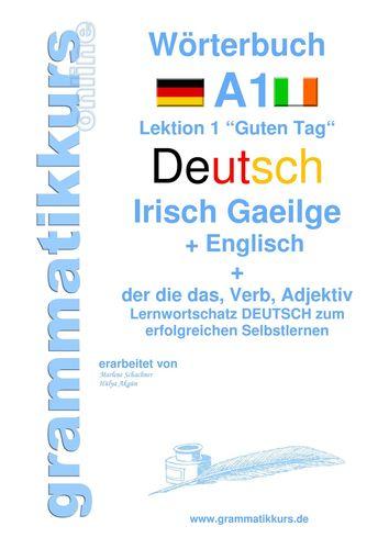 Wörterbuch Deutsch - Irisch Gaeilge -  Englisch Niveau A1