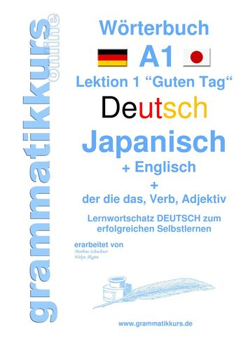 Wörterbuch Deutsch - Japanisch - Englisch Niveau A1