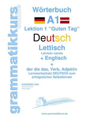Wörterbuch Deutsch - Lettisch - Englisch Niveau A1