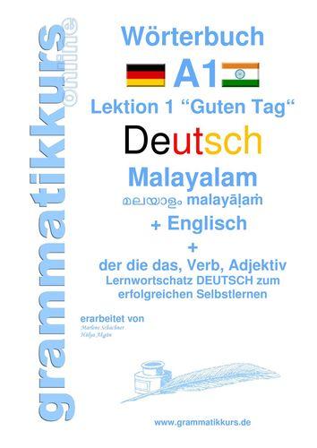 Wörterbuch Deutsch - Malayalam (Indien) - Englisch