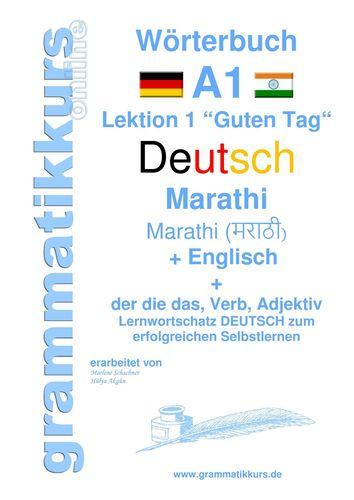 Wörterbuch Deutsch - Marathi - Englisch Niveau A1