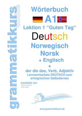 Wörterbuch Deutsch - Norwegisch - Englisch Niveau A1