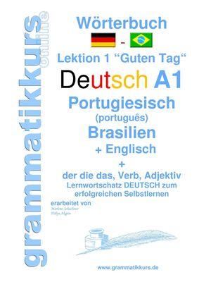 Wörterbuch Deutsch -  Portugiesisch (Brasilien) - Englisch Niveau A1