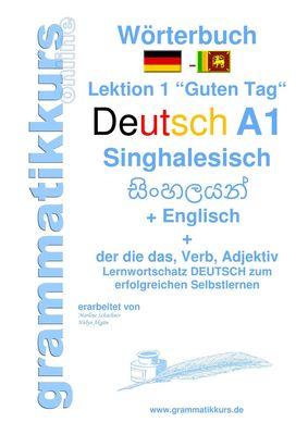 Wörterbuch Deutsch - Singhalesisch - Englisch A1