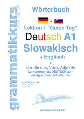 Wörterbuch Deutsch - Slowakisch -  Englisch Niveau A1