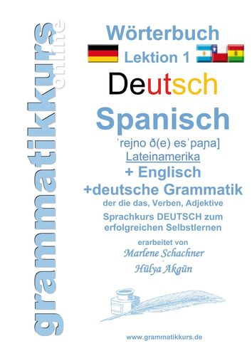 Wörterbuch Deutsch - Spanisch - Lateinamerika - Englisch A1 Lektion 1