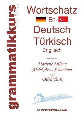 Wörterbuch Deutsch - Türkisch - Englisch Niveau B1