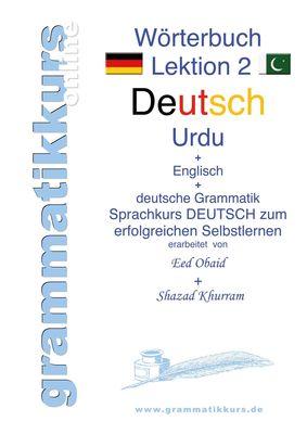 Wörterbuch Deutsch - Urdu- Englisch A1 Lektion 2