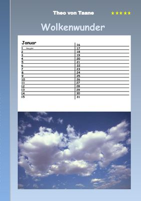 Wolkenwunder - Kalender