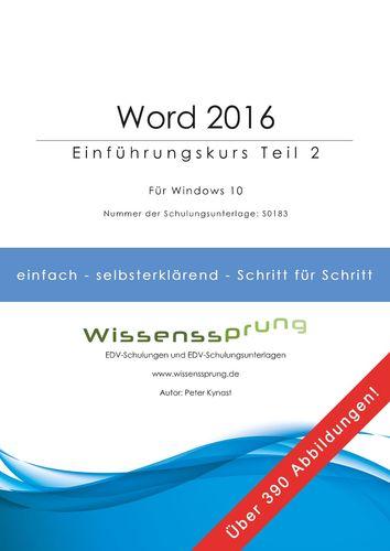 Word 2016 - Einführungskurs Teil 2