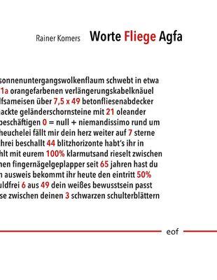 Worte Fliege Agfa