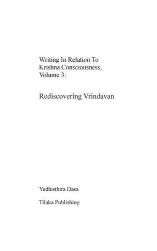 Writing in relation to Krishna consciousness, volume 3