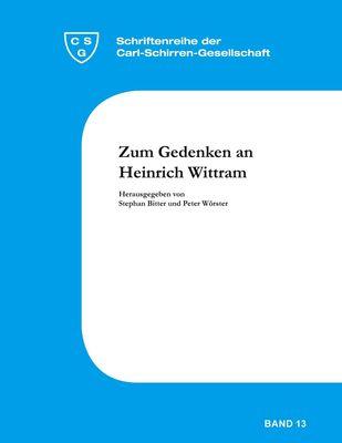 Zum Gedenken an Heinrich Wittram